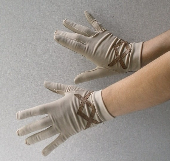 Vintage 60s Stretch Driving Gloves Small