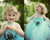 GORGEOUS EMPIRE WAIST TUTU DRESS- SZ 1-3 YEARS- YOU PICK THE COLOR(S)- PERFECT FOR BIRTHDAYS, WEDDINGS, PHOTOS, AND MORE