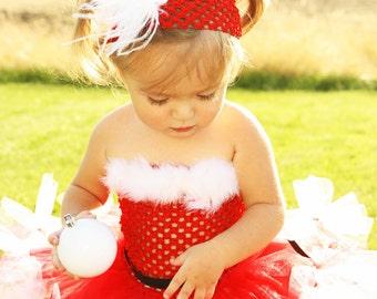 Santa Cutie Petti-Tutu Dress and Matching Headband- SZ 0-5T