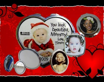 Compact Mirror Custom Printed and Personalized