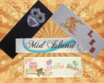 Grosgrain Sew-in Labels - Custom Printed