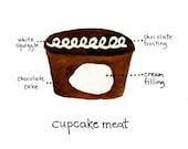 Cupcake Meat print