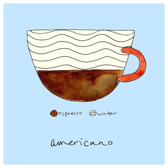 Inside an Americano
