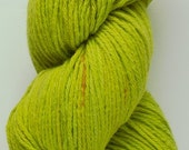 Cotton Yarn Chartreuse Confetti Speckles USA Grown Cotton - Hand Dyed by Me in Oregon