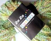 Spring Green Multi Color Two Skeins of Designer Yarn Za Za Stacy Charles 2 Balls Wild Zig Zag Ribbon Destash