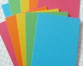 ATC ACEO Hand Cut Blanks Rainbow 5 Colors Card Stock Paper Acid Free Archival Pack of 20