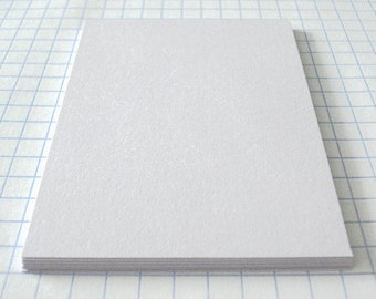 ACEO ATC 2.5x3.5in Hand Cut Blanks White Card Stock Smooth Paper Acid Free Archival Pack of 25