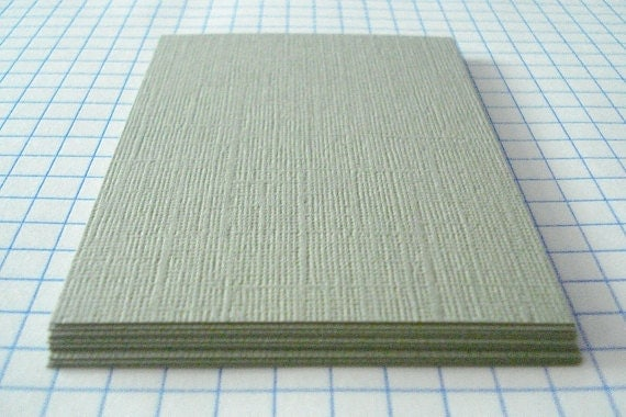 ATC ACEO Hand Cut Blanks Light Sage Card Stock Textured Paper Acid Free Archival Pack of 10