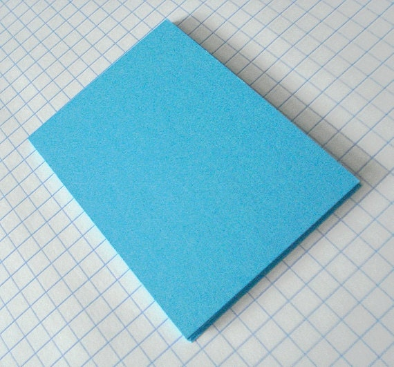 ATC ACEO Hand Cut Blanks Tropical Caribbean Blue Card Stock Paper Acid Free Archival Pack of 10