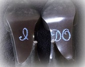 Rhinestone Crystal I Do Shoe Sticker -Sapphire Blue