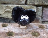 Black Little Piggy Wine Bottle Stopper