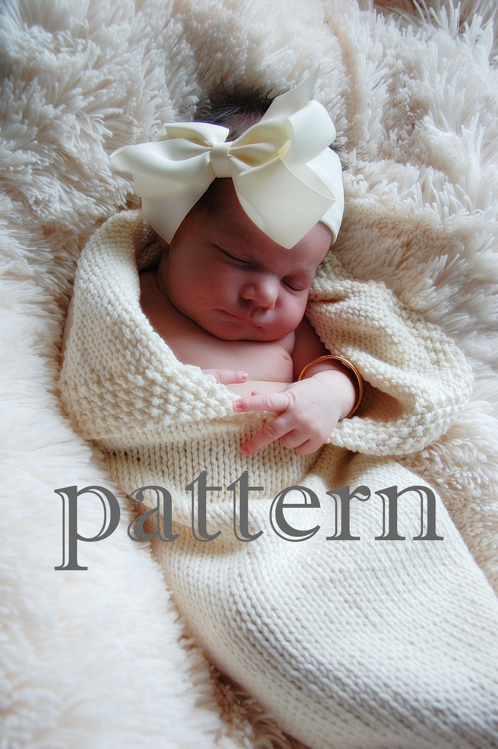 Immediate Download Two Knitting Patterns PDF for Swaddle