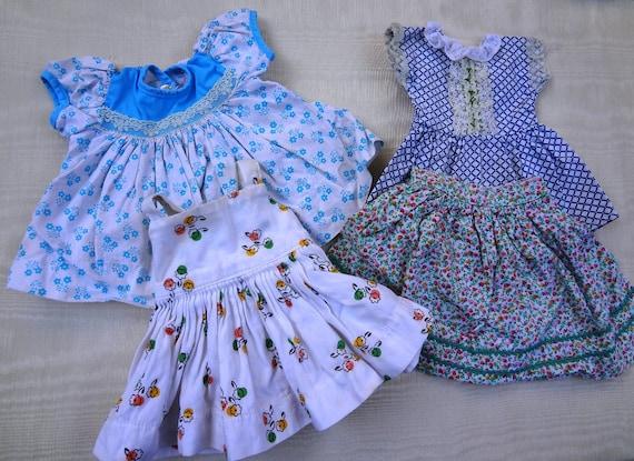 Set of 4 Vintage Doll Clothes