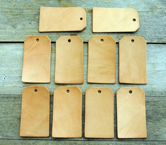 Sale 10 blank leather tag shapes set 11 use for for Leather shapes for crafts