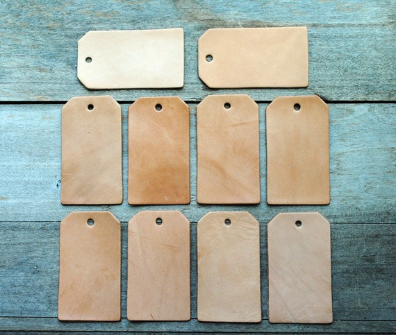 Sale 10 blank leather tag shapes set 14 use for for Leather shapes for crafts