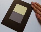 Paint Chip Art- FRISKY / NIGHTCAP - unique gift wall art, violet and cream colors