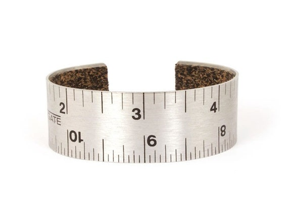 Handmade Ruler Cuff with Cork Lining