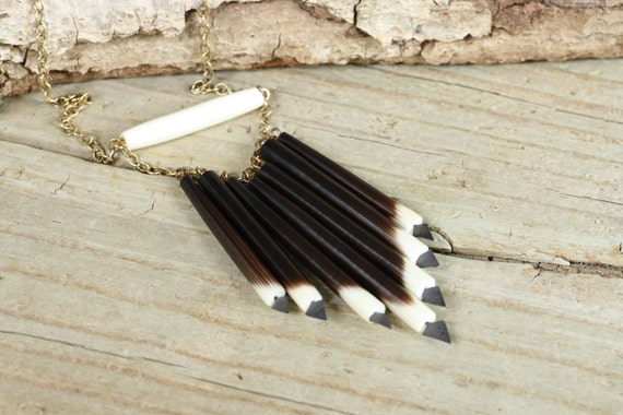 Shawnee - Quill and Bone Urban Tribal Statement Necklace