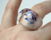Floating Butterfly Resin Ring (size 7.5)