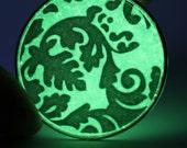 Glow in the Dark Resin Pendant
