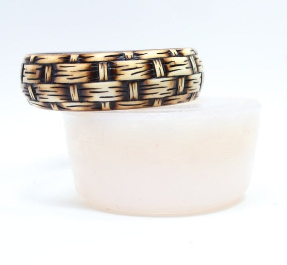 Basket Weaving Molds : Bangle mold printed basket weave from