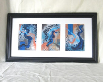 Frames of Thought- Framed 5x7 Tryptych Prints