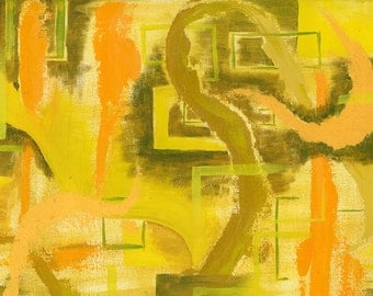 Anxiety Yellow Fine Art Limited Edition Print 4x6 Matted to 8x10