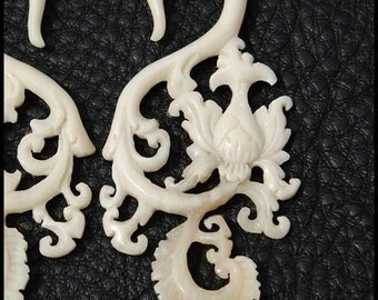 Ear plug 4 Gauge White Garden