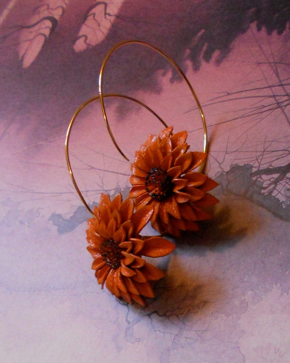 On Sale - Earrings Dandelion Hoop