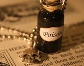 Poison Vial Necklace - Halloween Jewelry - Shakespeare