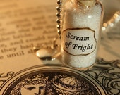 Snow White Necklace - Glass Vial Necklace - Fairy Tale Inspired - Scream of Fright - Halloween Necklace