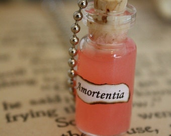 Love Potion - Vial Necklace - Spell Bottle - Glass Bottle