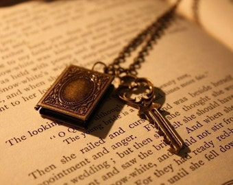 Book Locket Necklace - The Secret Keeper