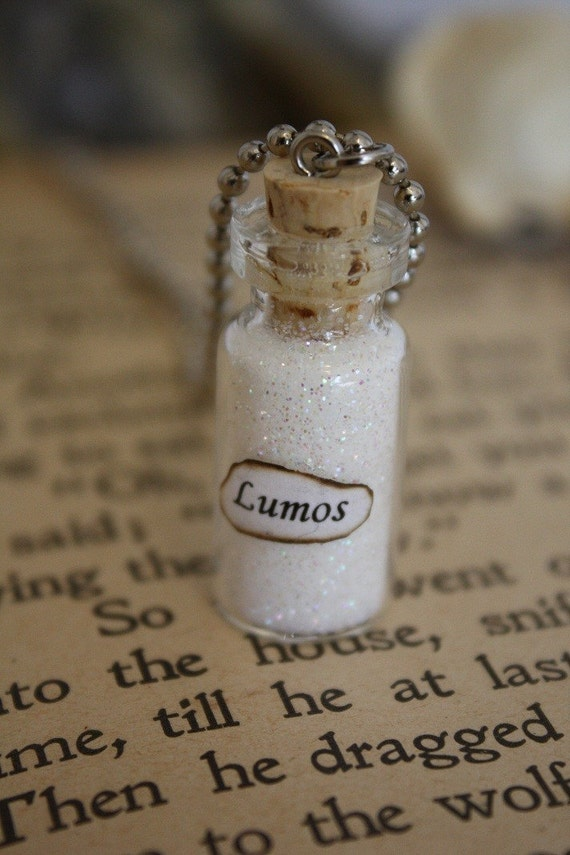 Lumos - Vial Necklace - Glass Bottle Necklace - Potion Bottle