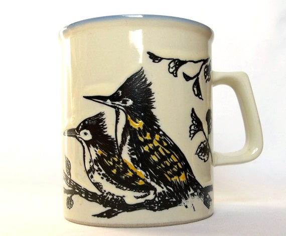 Earthy Bird Mug - Kingfishers