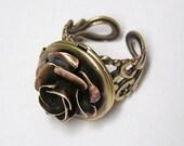 Victorian Rose locket Ring