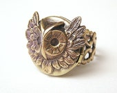 OWL locket Ring, Cute and Adorable
