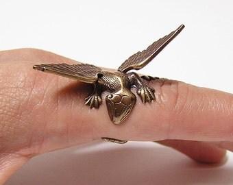 Dragon Ring, dragon body wrap around finger  (o)