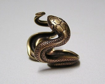 SERPENT SNAKE RING, coils wrap around finger