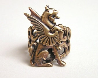 Steampunk GRIFFIN RING