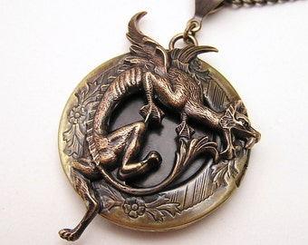 DRAGON LOCKET, Necklace Pendant