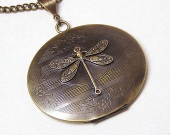DRAGONFLY LOCKET, Necklace Pendant