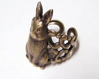 Bunny RABBIT Ring, cute and adorable