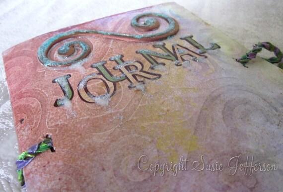 Sparkly Swirl Kiss Journal
