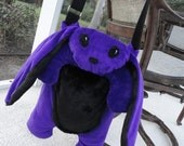 Large Bunny Messenger - Purple - MADE TO ORDER
