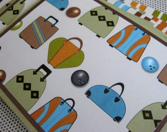 Cool, Funky, Retro Bowling Ball and Bag Stationery - Set of 6 - Handmade Set of Notecards