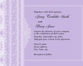 Classic lace customizable invitation card - digital