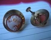 vintage cameo earrings.
