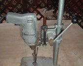vintage portable drill press and drill - handymanhowto