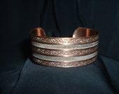 Vintage Copper Designer Ladies Bracelet Jewelry